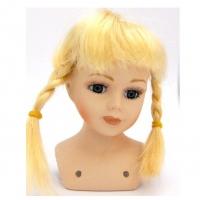 Волосы для кукол (парик) косички, цвет Блондин