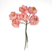 Цветы вишни кудрявые из бумаги